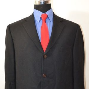 Pronto Uomo 42R Sport Coat Blazer Suit Jacket Blac